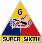 6th Armored Division Pin