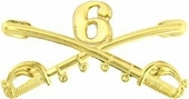 6th Cavalry Crossed Sabers Pin