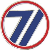 71st Infantry Division Pin