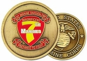 7th Marines Challenge Coin - OUT OF STOCK