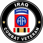 82nd Airborne Division Iraqi Freedom Combat Veteran Decal