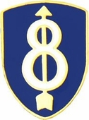 8th Infantry Division Pin
