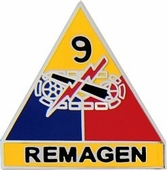 9th Armored Division Pin
