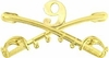9th Cavalry Crossed Sabers Pin