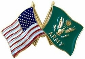 Army Crossed Flags Pin