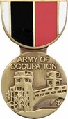 Army Of Occupation Medal Pin