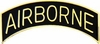 Black Airborne Tab Pin