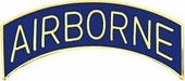 Blue Airborne Tab Pin