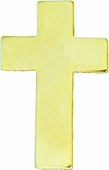 Chaplain Cross Gold Pin