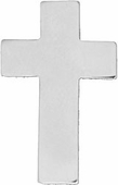 Chaplain Cross Silver Pin