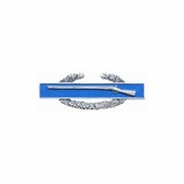 "1.25"" Miniature Silver-Oxide CIB Dress Lapel Pin"