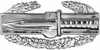 Combat Action Badge Pin Silver Finish