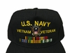 Custom Navy Baseball hat with Image & Ribbons - up to 6