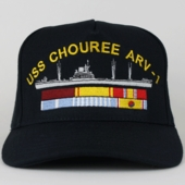 Navy Ships Caps with Ribbons (up to 6)