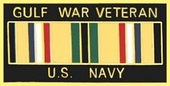 Gulf War Veteran US Navy Pin