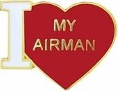 I Love My Airman Pin