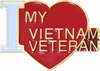 I Love My Vietnam Veteran (Large) Pin