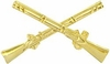 Infantry Crossed Rifles Pin