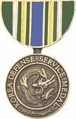 Korea Defense Service Medal Pin