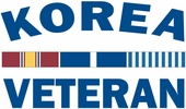 Korea Veteran Decal with Ribbons 5.5""