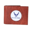 Leather Wallet Air Force Wing - Brown