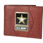 Leather Wallet Army Star - Brown