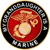 My Grandaughter is a Marine Pin