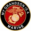 My Grandson is a Marine Pin