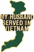 My Husband Served In Vietnam pin