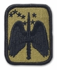 OCP 16th Aviation Brigade Army Patch Hook Fastener Back