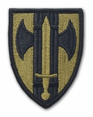OCP 18th Military Police MP Army Patch Hook Fastener Back