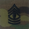 OCP 1st Sergeant 1SG E-8 Army Rank 2x2 Hemmed Sew On