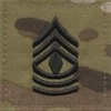 OCP 1st Sergeant 1SG E-8 Army Rank 2x2 Hook Fastener Back