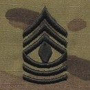OCP 1st Sergeant 1SG E-8 Army Rank Sew On Pair for Cap