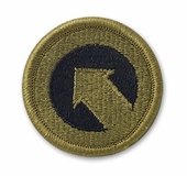 OCP 1st Support Command Army Patch Hook Fastener Back