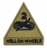 OCP 2nd Armored Division Hell on Wheels Army Patch