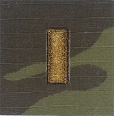 OCP 2nd Lieutenant 2LT O1 Army Rank 2x2 Hemmed Sew On