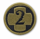 OCP 2nd Medical Brigade Army Patch