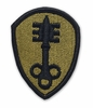 OCP 300th Military Police MP Army Patch Hook Fastener Back