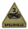 OCP 3rd Armored Division Spearhead Army Patch Hook Fastener Back