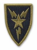 OCP 3rd Signal Brigade Army Patch Hook Fastener Back