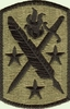 OCP 95th Civil Affairs Army Patch Hook Fastener Back