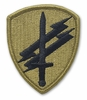 OCP Civil Affairs & Pysch Ops Army Patch Hook Fastener Back