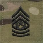 OCP Command Sergeant Major CSM E-9 Army Rank 2x2 Hemmed Sew On