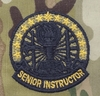 OCP Instructor Badge Senior Army Badge Sew On