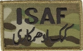 OCP ISAF Bagby Green Border Army Patch Hook Fastener Back