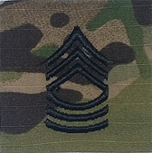 OCP Master Sergeant MSG E-8 Army Rank 2x2 Hemmed Sew On