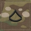 OCP Private First Class PFC E-3 Army Rank 2x2 Hook Fastener Back
