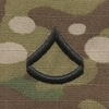 OCP Private First Class PFC E-3 Army Rank Sew On Pair for Cap