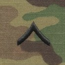 OCP Private PV2 E-2 Army Rank Sew On Pair for Cap